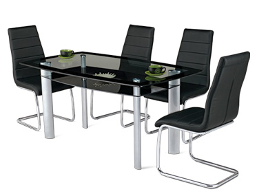 GLAZE DINING TABLE WITH PLUTO CHAIR Godrej Interio Home Furnitures Dining Room Dining Sets