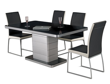 NEO APPLE DINING TABLE WITH NOVICE CHAIRS Godrej Interio Home Furnitures Dining Room Dining Sets