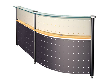 FIRST IMPRESSION Godrej Interio Office Furniture Desking Reception Tables