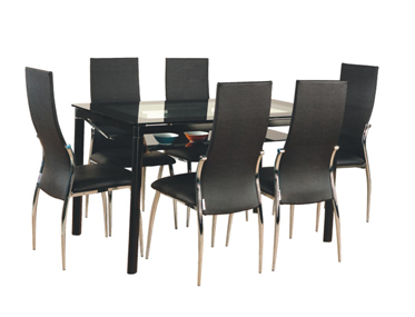BRAWN TABLE WITH TIA CHAIRS Godrej Interio Home Furnitures Dining Room Dining Sets