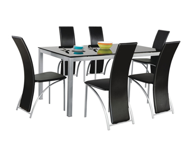 KNIGHT TABLE WITH EBONY CHAIRS Godrej Interio Home Furnitures Dining Room Dining Sets