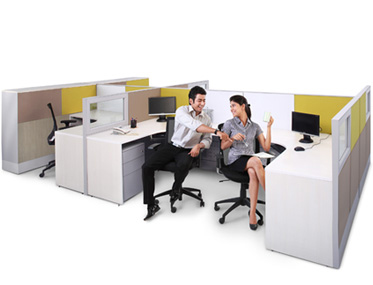 SPACIO + Godrej Interio Office Furniture Modular Furniture Tile Based Systems